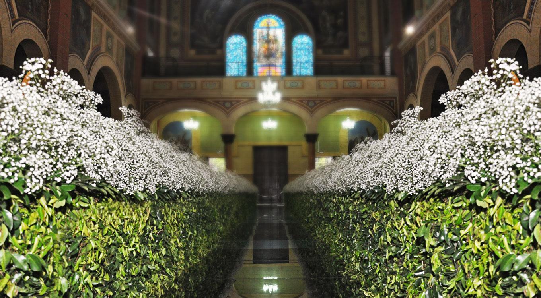 Decoração de Igreja - Casamento